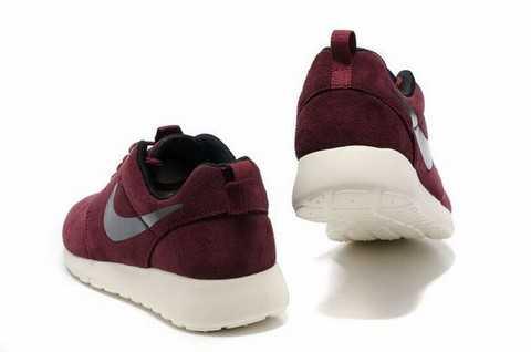 nike roshe run w chaussures rose argent